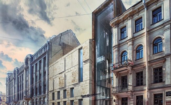 Герасимов предлагает возвести четырехэтажное бетонное здание в рационалистическом стиле — без декора и сложных архитектурных деталей