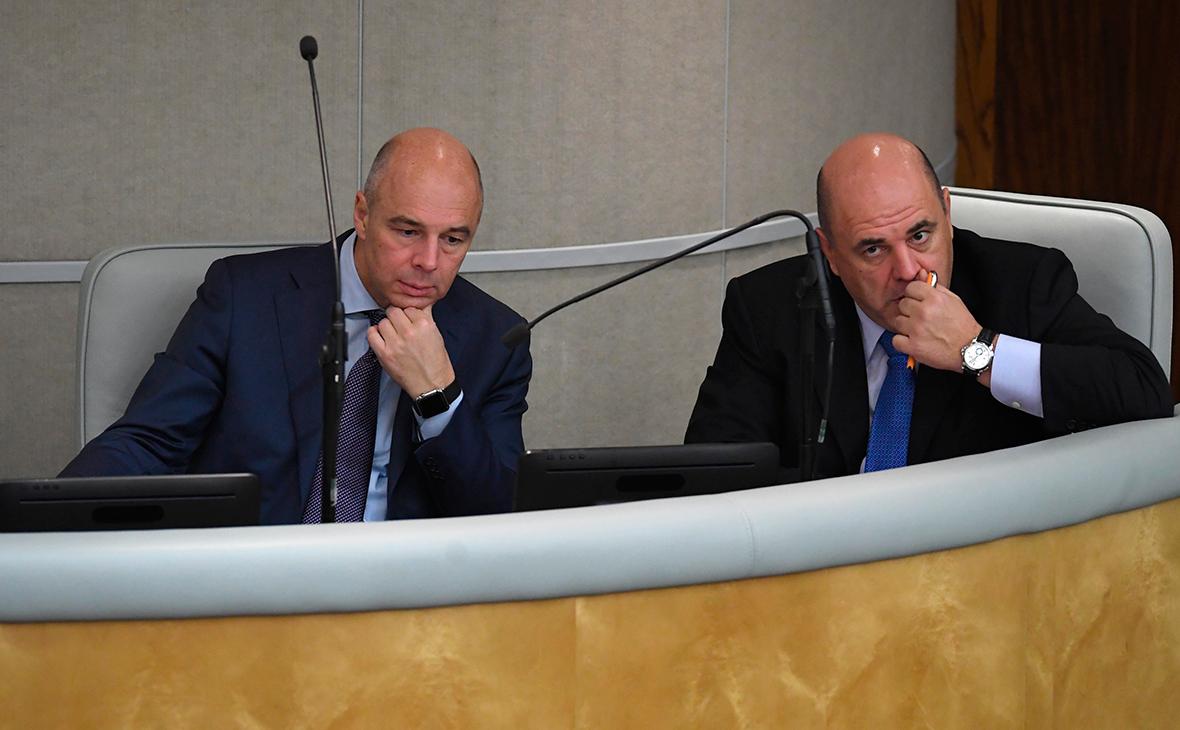 Антон Силуанов (слева) и Михаил Мишустин