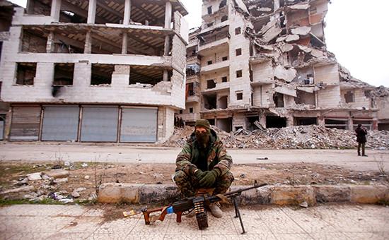 Сирийский солдат вАлеппо. 15 декабря 2016 года