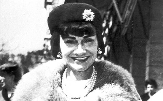 Дизайнер Коко Шанель, архивное фото