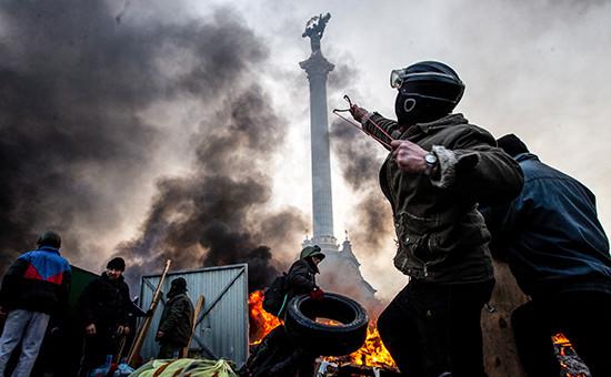Антиправительственные выступления в Киеве в феврале 2014 года