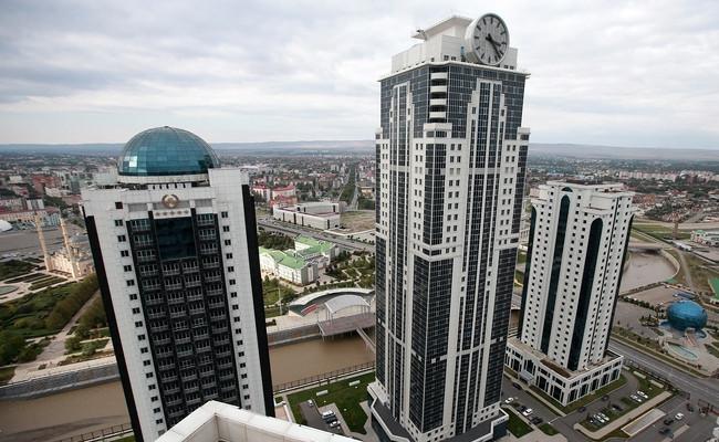 Комплекс высотных зданий «Грозный-Сити» вцентре столицы Чечни