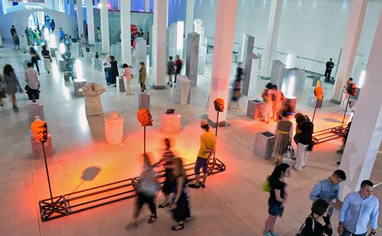 Пресс-показ выставки «Скульптуры, которых мы невидим» вЦВЗ «Манеж»