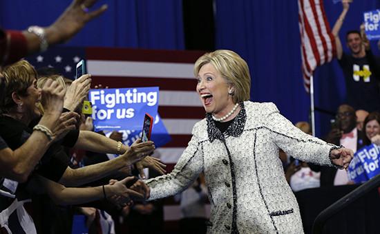 Кандидат в президенты США Хиллари Клинтон после предварительных выборов