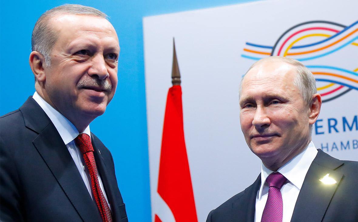 Реджеп Эрдоган и Владимир Путин (слева направо)