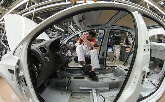 Цех окончательной сборки назаводе Volkswagen вКалуге
