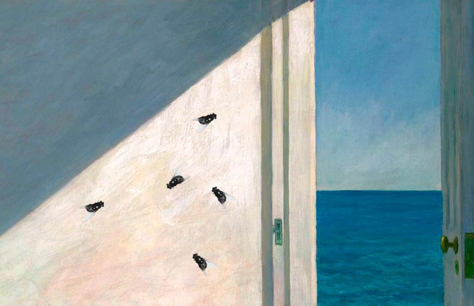 Коллаж с фрагментом картиныЭдварда Хоппера«Комнаты у моря»