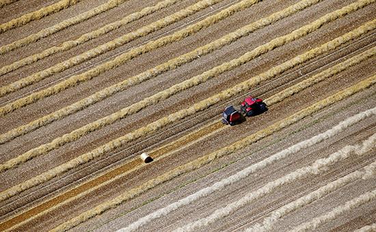 Вид французской фермы с высоты птичьего полета