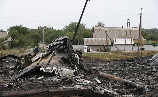 Место крушения пассажирского Boeing под Донецком