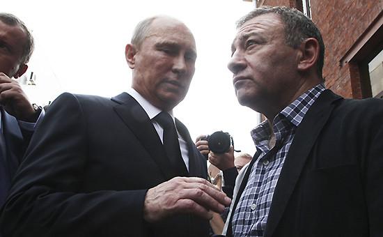 Президент России Владимир Путин (слева) и бизнесмен Аркадий Ротенберг