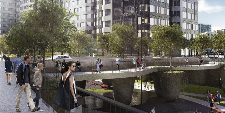 Проект пешеходного и автомобильного моста