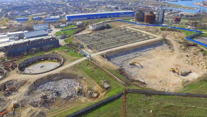 Место строительства КОС «Южные» в Севастополе