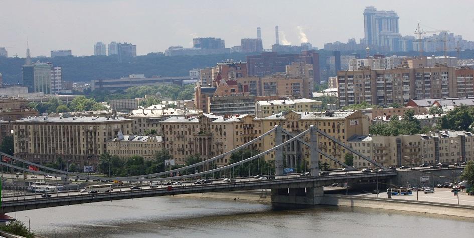 Крымский мост и район Хамовники