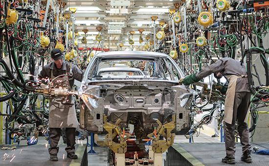 Cборочный цех завода Nissan Санкт-Петербурге