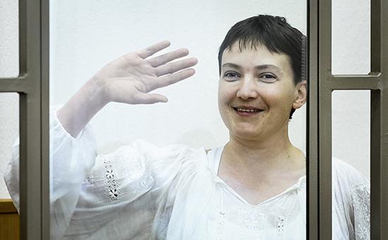 Украинская военнослужащая Надежда Савченко. Сентябрь 2015 года