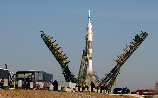 Ракета-носитель «Союз» на космодроме Байконур