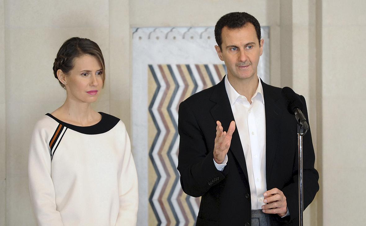 Асма Асад и Башар Асад