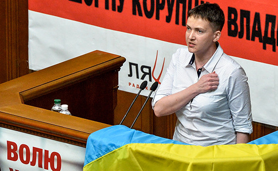 Депутат Рады Надежда Савченко