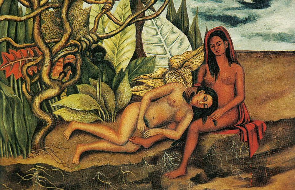 Фрида Кало. «Две обнаженные в лесу», 1939 г.