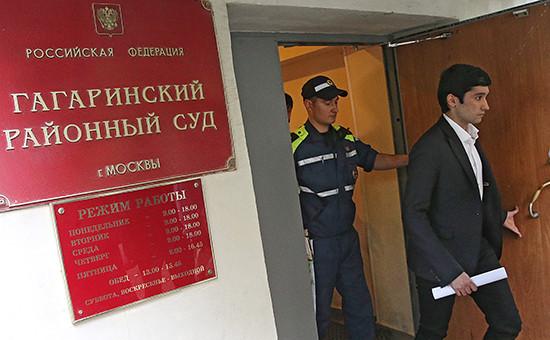 Сын вице-президента ЛУКОЙЛа Руслан Шамсуаров вГагаринском районном суде. 28 мая 2016г.