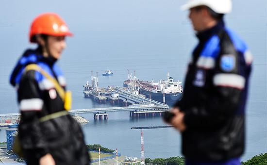 Вид на специализированный морской нефтеналивной порт «Козьмино»