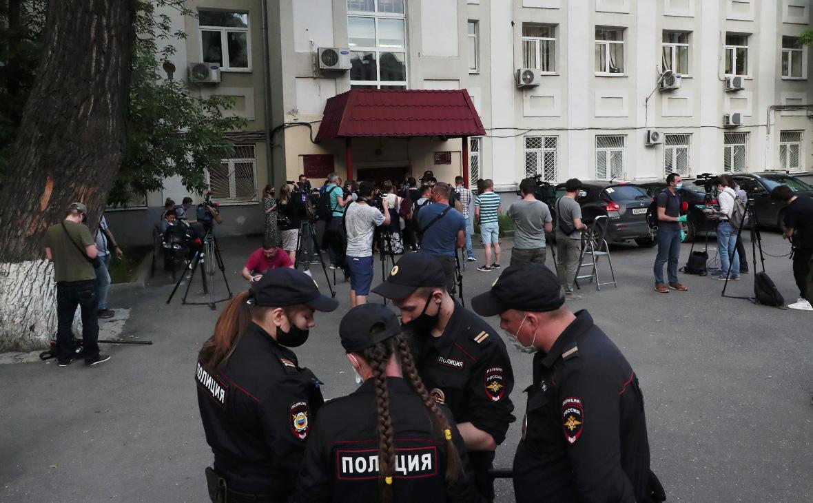 Обстановка у Таганского суда Москвы