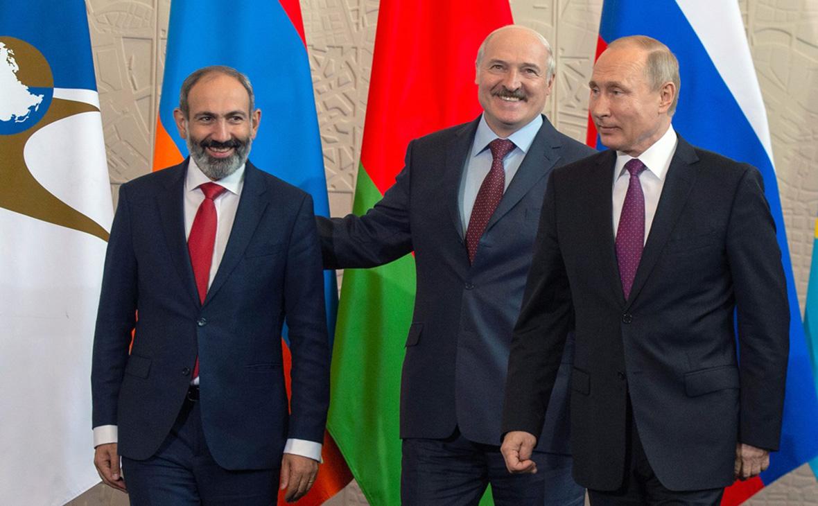 Никол Пашинян, Александр Лукашенко и Владимир Путин