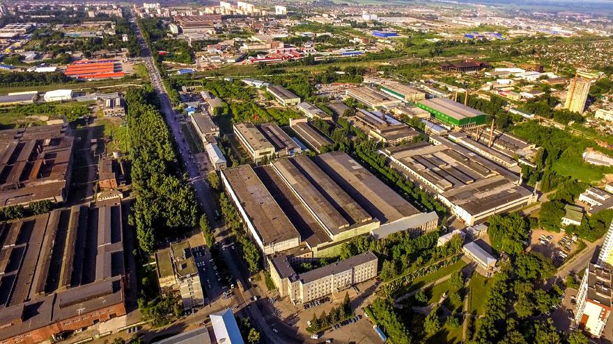 Завод «Тяжстанкогидропресс» с высоты