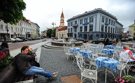 Вид города Вильнюс, Литва