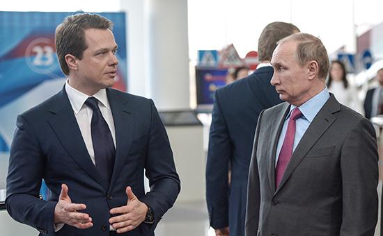Максим Ликсутов и Владимир Путин