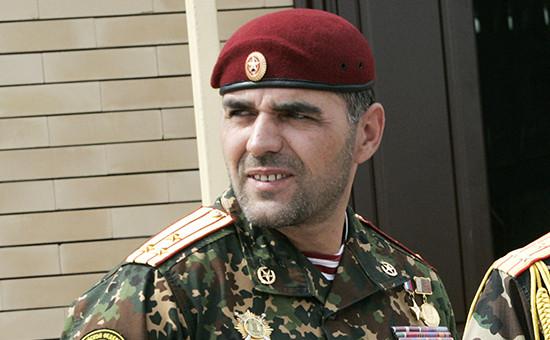 Офицер Национальной гвардии Алибек Делимханов