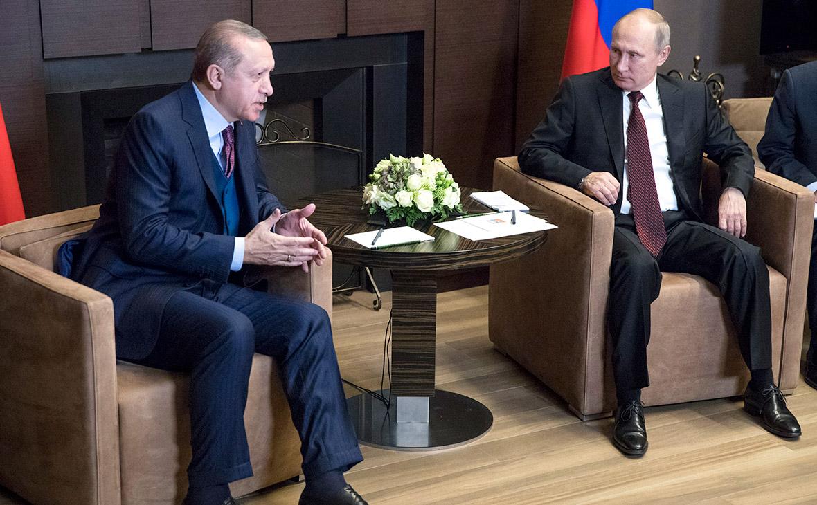 Реджеп Эрдоган иВладимир Путин