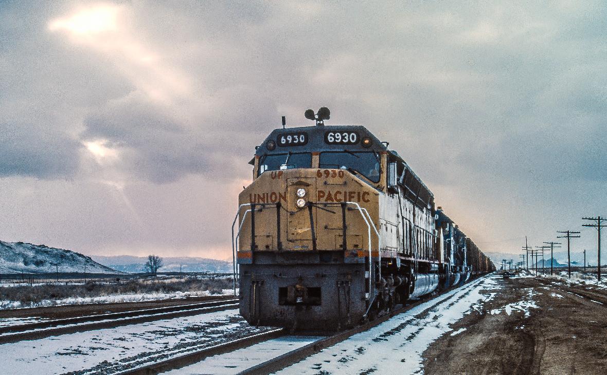 Локомотив компании Union Pacific