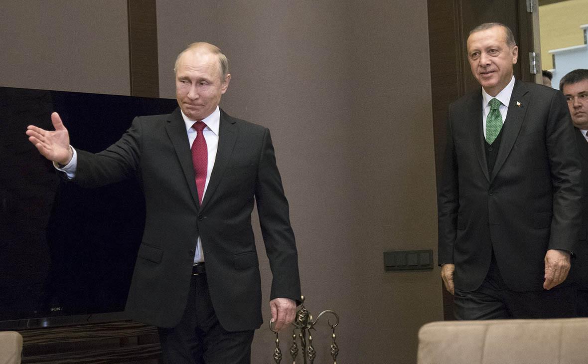 Владимир Путин иРеджеп Тайип Эрдоган