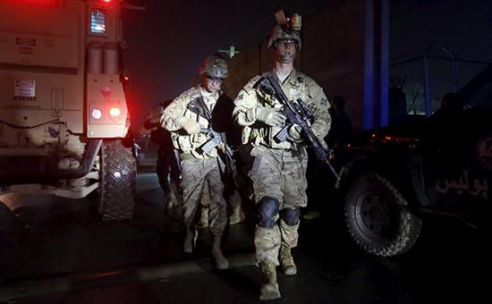 Американские солдаты в Афганистане, 4 января 2016 года
