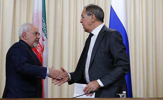Министр иностранных дел Ирана МохаммадДжавад Зариф иглава МИД России Сергей Лавров