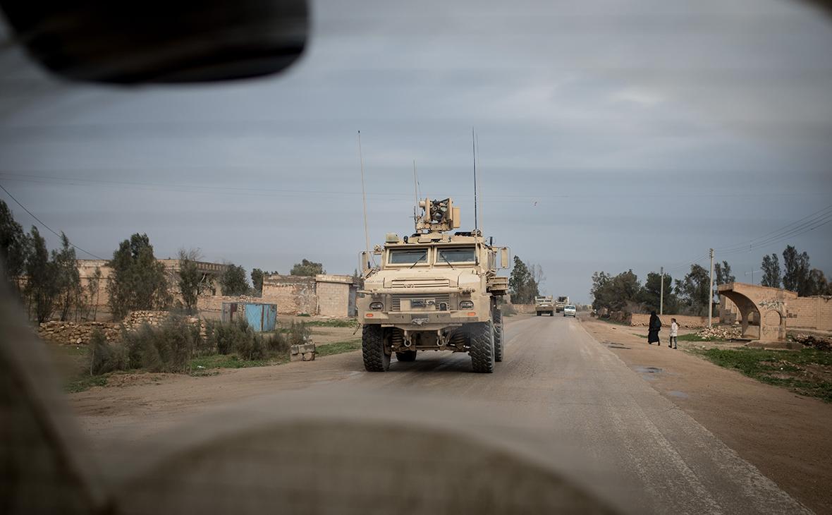 Конвой формирования «Сирийские демократические силы» в провинции Дейр-эз-Зор