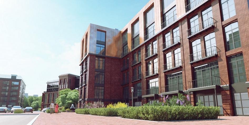 Визуализация жилого комплекса Loft Park, возведением которого занималась компания Red Development