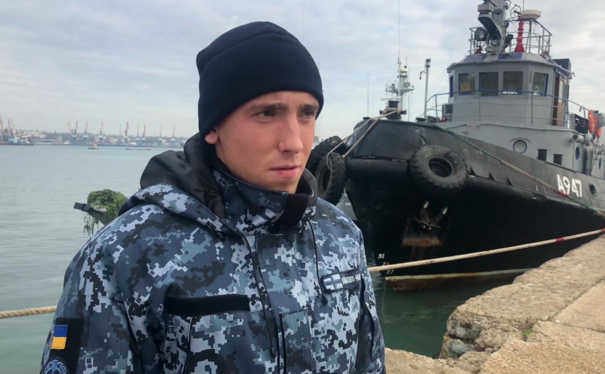 Комендор-сигнальщик, матрос катера ВМС Украины «Никополь» Сергей Цыбизов