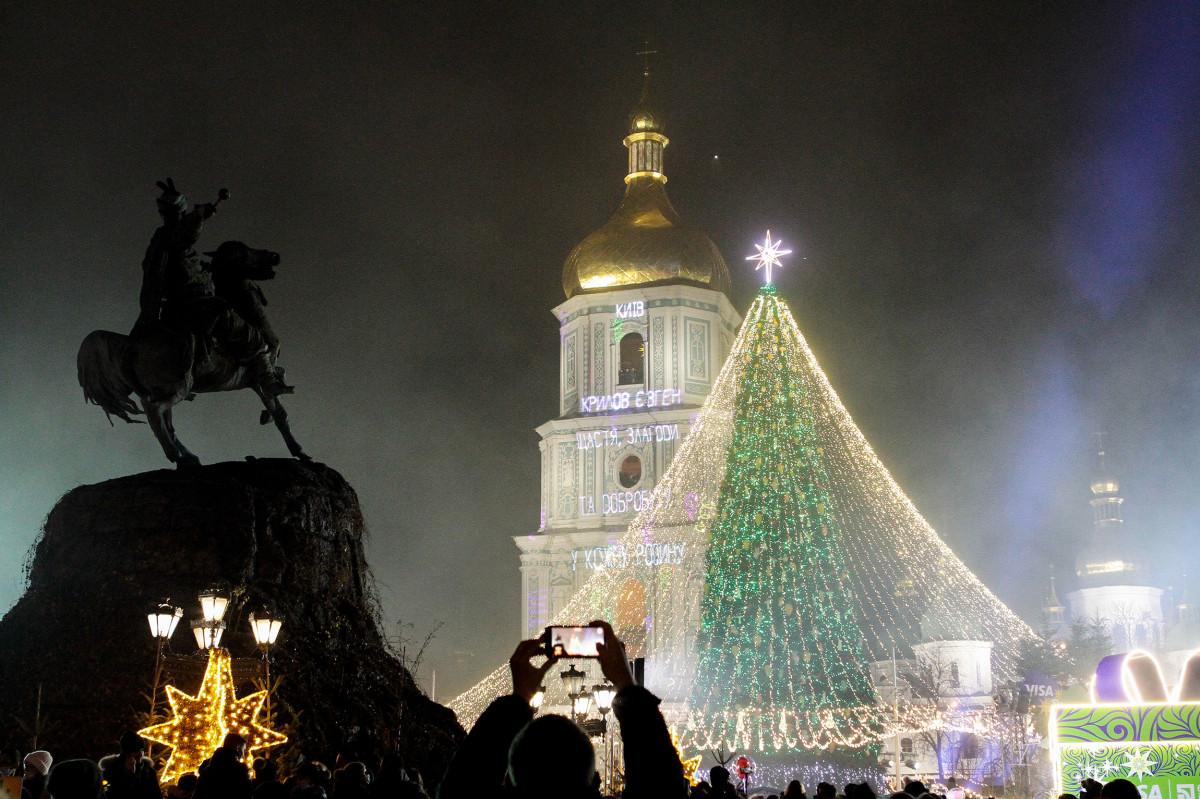 Главная елка Украины на Софийской площади, Киев