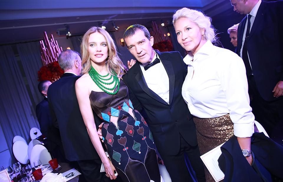 Наталья Водянова, Антонио Бандерас и Екатерина Одинцова
