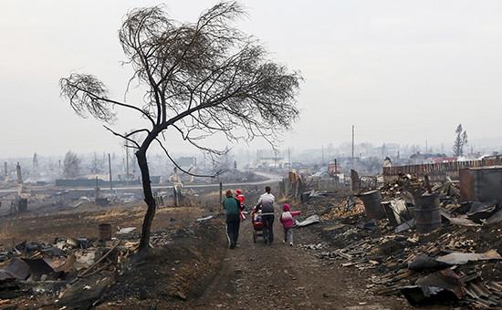 Один из поселков в Хакасии после пожара
