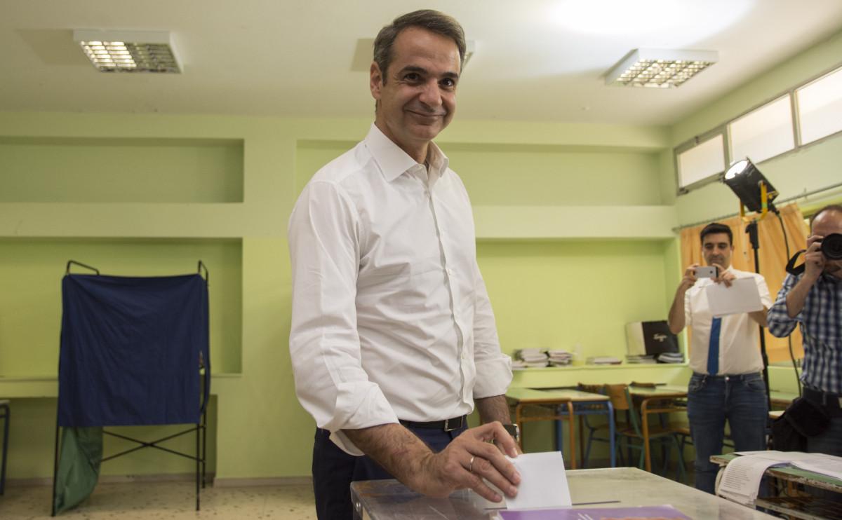 Лидер оппозиционной партии Греции «Новая демократия» Кириакос Мицотакис