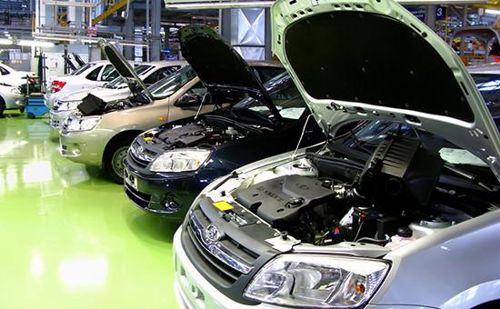 Сборка Lada Granta на заводе АвтоВАЗ в г.Тольятти