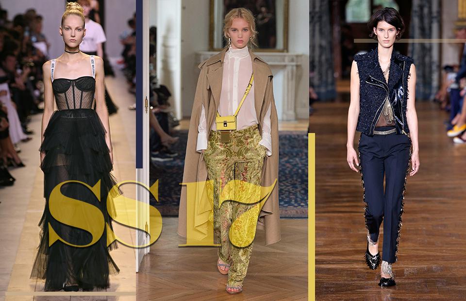 Модели с показов Dior, Valentinо иLanvin,весна-лето 2017