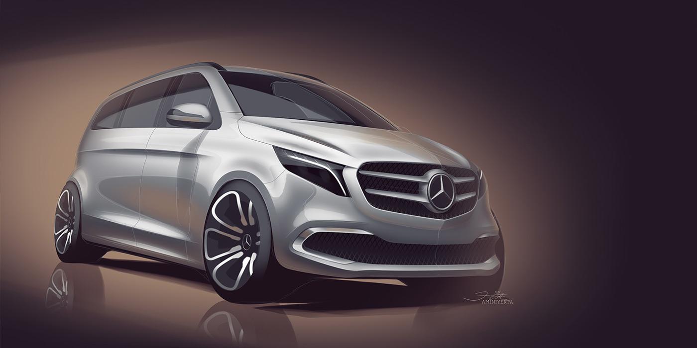 Mercedes привезет в Женеву электрический минивэн