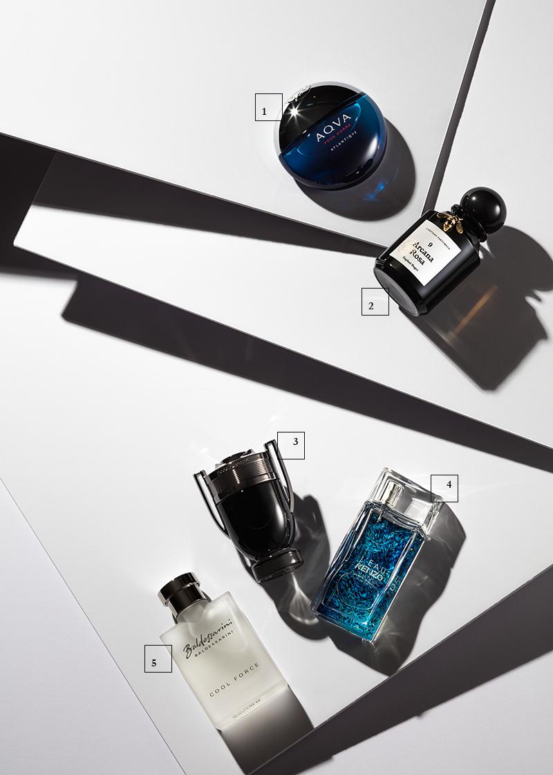 Ветивер 1 | Aqua Pour Homme Atlantique, Bulgari 2 | 9 Arcana Rosa L'Artisan Parfumeur  Кардамон 3 | Invictus Intense, Paco Rabanne 4 | L'Eau Kenzo Aquadisiac, Kenzo 5 | Cool Force, Baldessarini