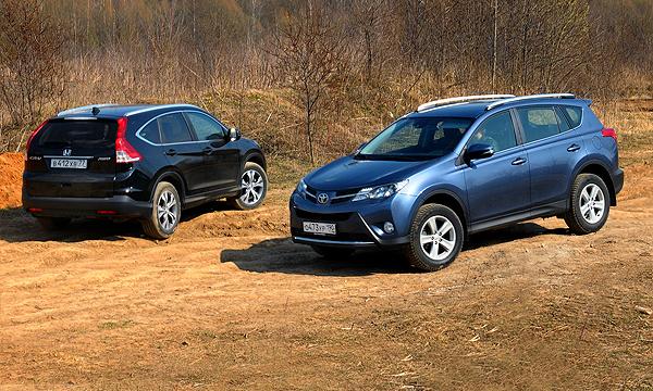 Лучшее - враг кроссовера: Honda CR-V и Toyota RAV4
