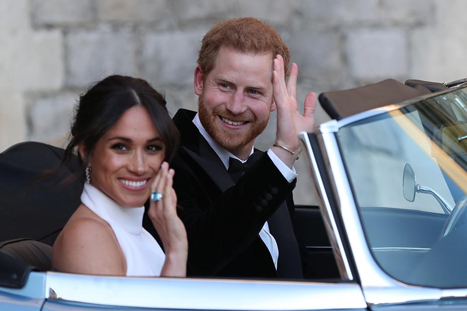 Принц Гарри и Меган Маркл на своей свадьбе в 2018 году