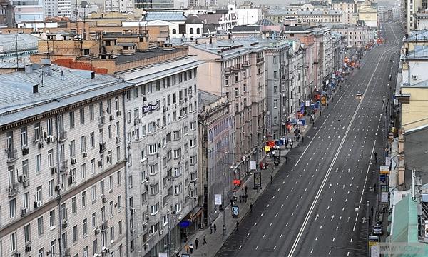 Тверскую улицу сузят на две полосы